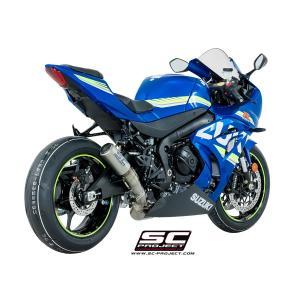バイク マフラー SCプロジェク スズキ GSX-R 1000 '17 CRT サイレンサー フルチタンリンクパイプ スリップオン・システム|vio0009