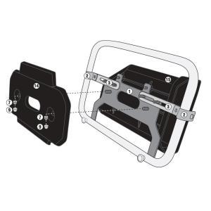 バイク バッグ ツールボックス GIVI社製 パニアステー併用 ツールボックスステー|vio0009