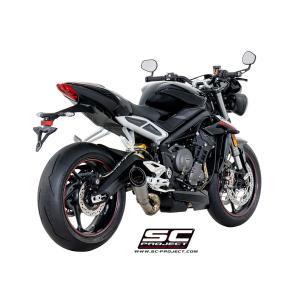 バイク マフラー SCプロジェクト トライアンフ ストリート トリプル 765 / S / R / RS S1・チタンサイレンサー スリップオン・システム|vio0009