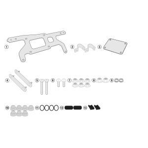 バイク バッグ ツールボックス GIVI ホンダ X-ADV GIVI社製 パニアステー併用 ツールボックスステー|vio0009