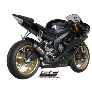 バイク マフラー SCプロジェク ヤマハ YZF R6 06-14 GP M2サイレンサー スリップオン・システム アップマウント|vio0009