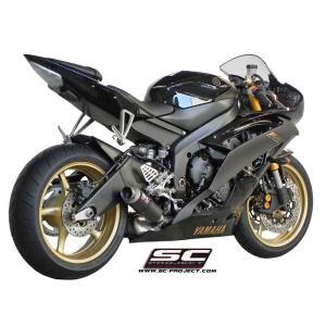 バイク マフラー SCプロジェクト ヤマハ YZF R6 06-14 GP M2サイレンサー スリップオン・システム ローマウント|vio0009