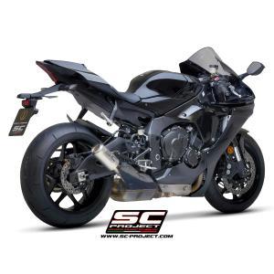 バイク マフラー SCプロジェクト ヤマハ YZF R-1 / R-1M 15-16 CRTサイレンサー スリップオン vio0009