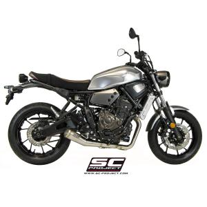 バイク マフラー SCプロジェクト ヤマハ XSR700 2016モデル用 コニカルサイレンサー フルエキゾーストシステム|vio0009