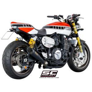 バイク マフラー SCプロジェクト ヤマハ XJR 1300 / RACER S1サイレンサー スリップオン マットブラック vio0009