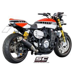 バイク マフラー SCプロジェク ヤマハ XJR 1300 / RACER GP65 カーボンサイレンサー スリップオン|vio0009