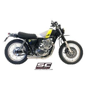 バイク マフラー SCプロジェク ヤマハ SR400(FIモデル) コニカル サイレンサー フルエキゾーストシステム|vio0009