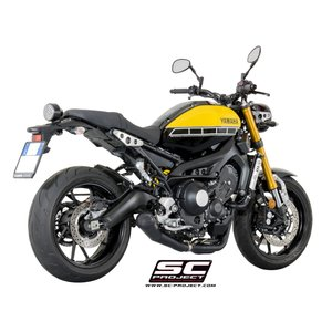 バイク マフラー SCプロジェクト ヤマハ XSR900 コニック'70s サイレンサー XSR 900 フルエキゾーストシステム ブラックエディション|vio0009