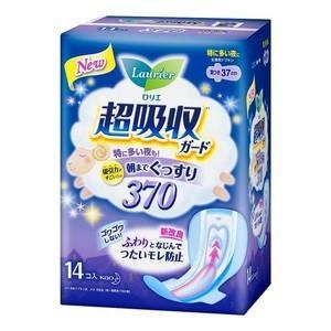 花王 ロリエ 超吸収ガード 370 14コ入 医薬部外品 (生理用ナプキン)|viqol