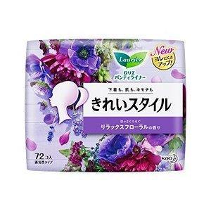 花王 ロリエ きれいスタイル リラックスフローラルの香り 72コ入 (パンティライナー)|viqol