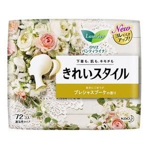 花王 ロリエ きれいスタイル プレシャスブーケの香り 72コ入 (パンティライナー)|viqol