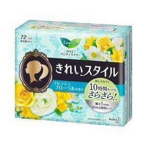 花王 ロリエ きれいスタイル フレッシュフローラルの香り 72コ入 (パンティライナー)|viqol