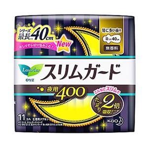 花王 ロリエスリムガード 特に多い夜用400 11コ入 (生理用ナプキン)|viqol