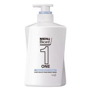 花王 メンズビオレ ONE オールインワン全身洗浄料 フルーティーサボンの香り 本体 480mL (全身洗浄料・ヘアシャンプー・ボディソープ)|viqol