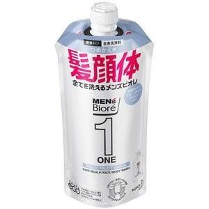 花王 メンズビオレ ONE オールインワン全身洗浄料 フルーティーサボンの香り つめかえ用レフィル 340mL (全身洗浄料・ヘアシャンプー・ボディソープ)|viqol