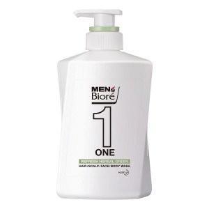 花王 メンズビオレ ONE オールインワン全身洗浄料 ハーバルグリーンの香り 本体 480mL (全身洗浄料・ヘアシャンプー・ボディソープ)|viqol