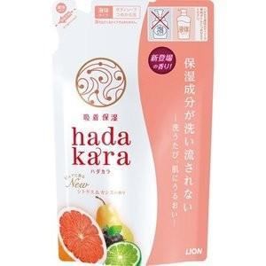 ライオン hadakara ハダカラ ボディソープ シトラス&カシスの香り つめかえ用レフィル 360mL (ボディソープ)|viqol