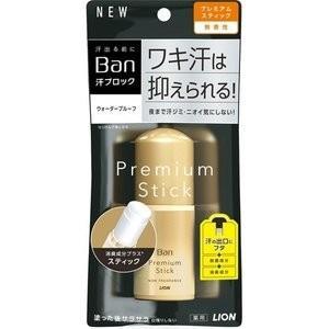 ライオン Ban バン 汗ブロック スティック プレミアムゴールドラベル 無香性 20g (デオドラント・制汗剤)|viqol