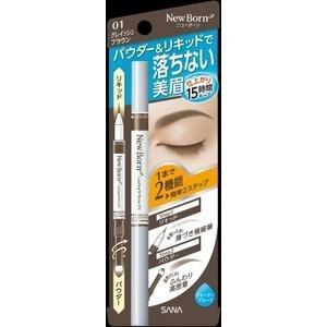 【常盤薬品 サナ ニューボーン ラスティングWブロウEX 01 グレイッシュブラウン アイブロウ】 ...