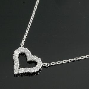 送料無料 ダイヤモンド0.2ct×K18 オープンハート ペンダント ネックレス 40cm 天然ダイヤモンド イエローゴールド 18金 K18 k18 K18 YG yg K18YG|virgindiamond