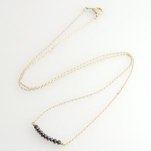 ダイヤモンド ブラックダイヤモンド ネックレス ペンダント イエローゴールド ラインネックレス レディース 0.6ct K10 10金 送料無料|virgindiamond