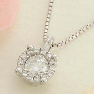 送料無料 ダイヤ 0.37ct ペンダント ネックレス 天然ダイヤモンド ホワイトゴールド 18金 K18 k18 K18 WG wg K18WG レディース|virgindiamond