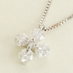 ダイヤモンド ネックレス ペンダント クロス ホワイトゴールド レディース 0.33ct K10 10金 送料無料|virgindiamond