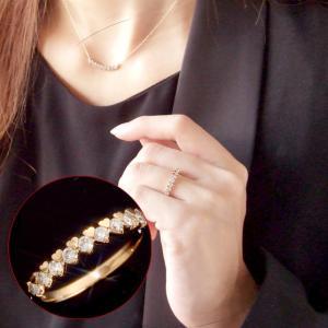 ダイヤモンド リング 指輪 レディース 0.3ct ハート ライン 18K 18金 ホワイトゴールド イエローゴールド ピンクゴールドシェリー cheri 送料無料|virgindiamond