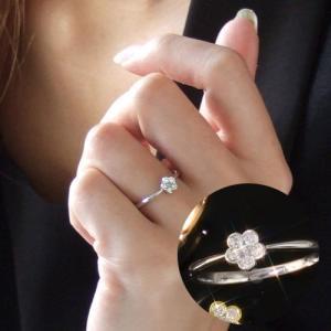 送料無料 天然ダイヤモンド0.1ctフラワー リング 指輪 5弁花 天然ダイヤモンド レディース|virgindiamond