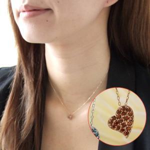 送料無料 ダイヤモンド0.2ct ハートパヴェペンダント・ネックレス K10WG/ホワイトダイヤ K10WG/ブルーダイヤ K10PG/レッドダイヤ 天然ダイヤモンド virgindiamond