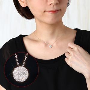 送料無料 天然ダイヤモンド0.3ct ラウンドペンダント・ネックレス K18WGホワイトゴールド レディース|virgindiamond