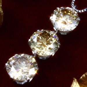 送料無料 高品質SIクラス 天然ダイヤモンド 2.0ct × プラチナ シャンパンカラー スリーストーン ペンダント・ネックレス 天然ダイヤモンド レディース|virgindiamond
