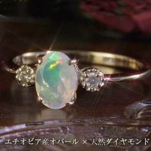 ダイヤモンド リング 指輪 レディース オパール ホワイトゴールド ピンクゴールド イエローゴールド|virgindiamond