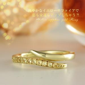 送料無料 イエローサファイア0.10ct ピンキーリング 指輪 K10YGイエローゴールド 天然ダイヤモンド レディース|virgindiamond