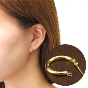 送料無料 K10カラーゴールド・ヌードフープピアスレディース|virgindiamond