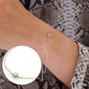 送料無料 天然ダイヤモンド0.1ct×K10ホワイトゴールド・2WAYアンクレット 天然ダイヤモンド レディース|virgindiamond
