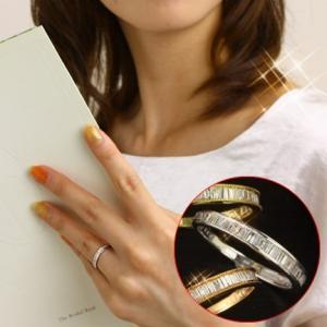 送料無料 天然ダイヤモンド(テーパー)0.32ct×K18ゴールドリング(K18YG/K18WG/K18PG) 天然ダイヤモンド レディース|virgindiamond