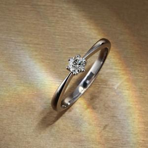 送料無料 天然ダイヤモンド0.15ctUp/JカラーUp/SIUp/GOODUp ×K18ホワイトゴールドリング 鑑定書付きレディース|virgindiamond