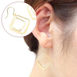 送料無料 天然ダイヤモンド計0.06ct×K18ゴールドWG/YG/PG フックピアスレディース|virgindiamond
