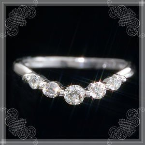 送料無料 プラチナ×0.3ctダイヤモンド・セレンシアスリング・指輪 R2100A 天然ダイヤモンド レディース|virgindiamond