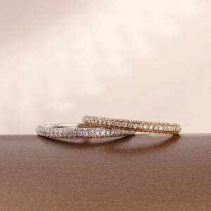 送料無料 天然ダイヤモンド 0.45ct ハーフエタニティーリング 指輪K18WG(18金/ホワイトゴールド)K18YG(18金/イエローゴールド)レディース|virgindiamond