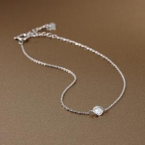 送料無料 天然ダイヤモンド0.10ct ベゼルセッティングブレスレット K18WGホワイトゴールド 天然ダイヤモンド レディース|virgindiamond