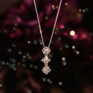 送料無料 K18WG×D0.50ct 天然ダイヤモンドネックレス 2way レディース virgindiamond