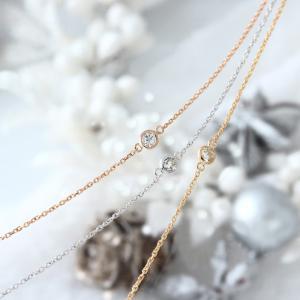 送料無料 天然ダイヤモンド 0.1ct ブレスレットK18WG(18金ホワイトゴールド)、K18YG(18金イエローゴールド)、K18PG(18金ピンクゴールド)|virgindiamond