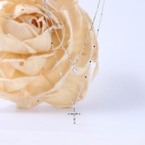 送料無料 天然ダイヤモンド0.08ct K18WG ペンダント K18WG(18金/ホワイトゴールド)レディース virgindiamond
