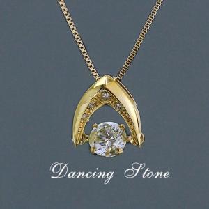 送料無料 天然ダイヤモンド 0.30ct&計0.02ct ダンシングストーン 揺れるダイヤ ペンダント ネックレス K18 イエローゴールド レディース|virgindiamond