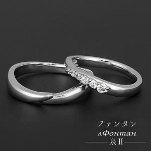 Pt950 プラチナハード マリッジリング ファンタン〜泉II〜 VM0026 送料無料|virgindiamond