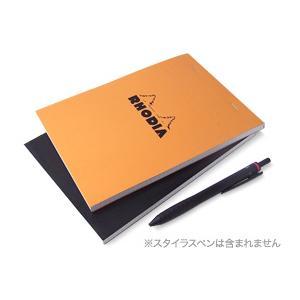 ビザビがオススメする究極のアナログモバイル、鮮やかなオレンジ色の表紙が目印の、フランス製「ブロックロ...