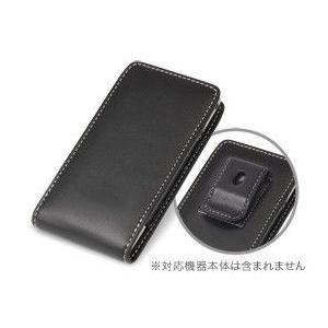 スマホケース PDAIR レザーケース for Xperia(TM) arc SO-01C ベルトクリップ付バーティカルポーチタイプ|visavis
