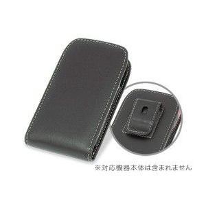 PDAIR レザーケース for G'zOne IS11CA ベルトクリップ付バーティカルポーチタイプ